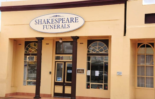 Shakespeare Funerals building